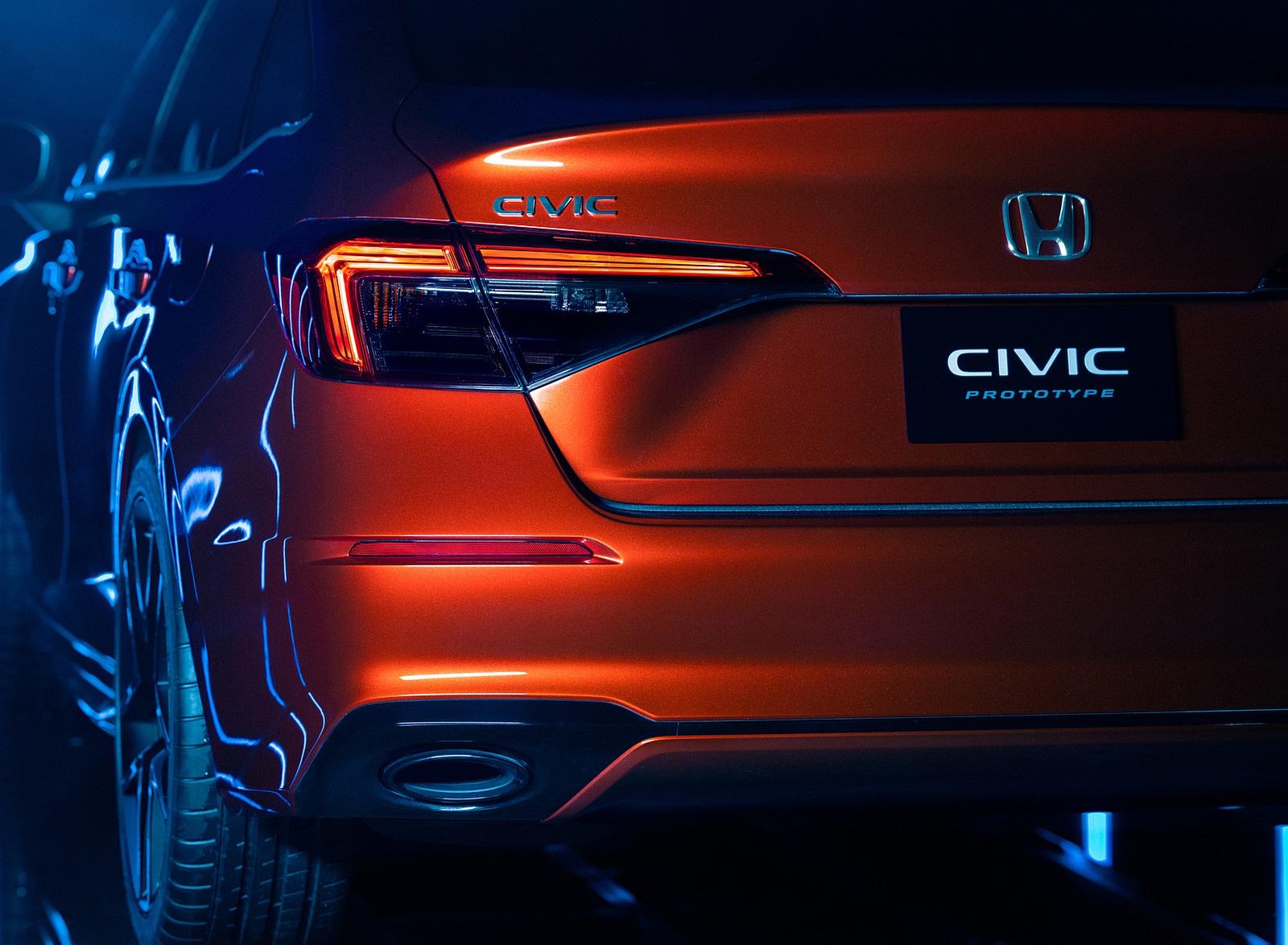 2022 Honda Civic Prototype Tail Light Wallpapers (8)