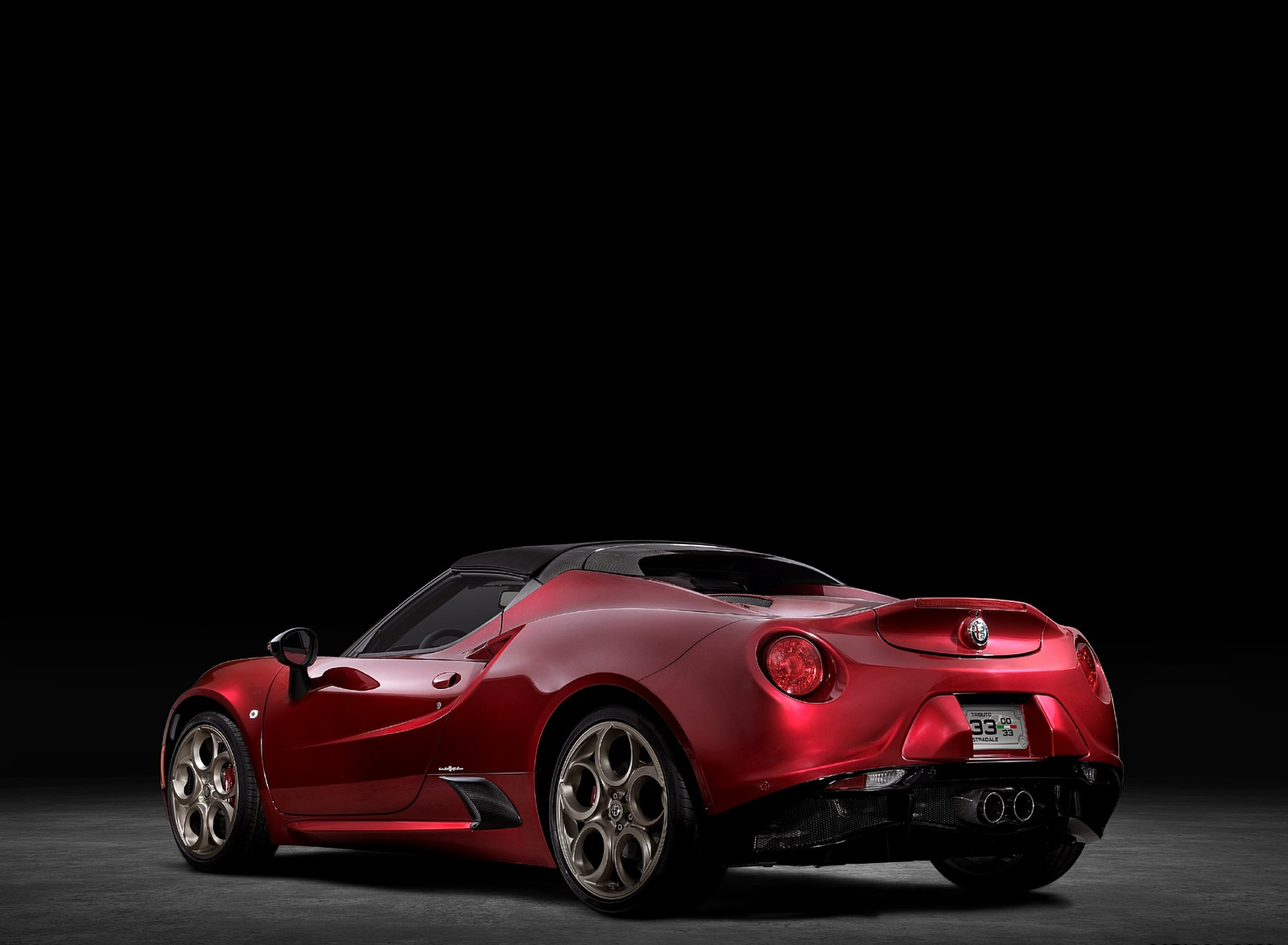 2020 Alfa Romeo 4C Spider 33 Stradale Tributo Rear Three-Quarter Wallpapers (6)