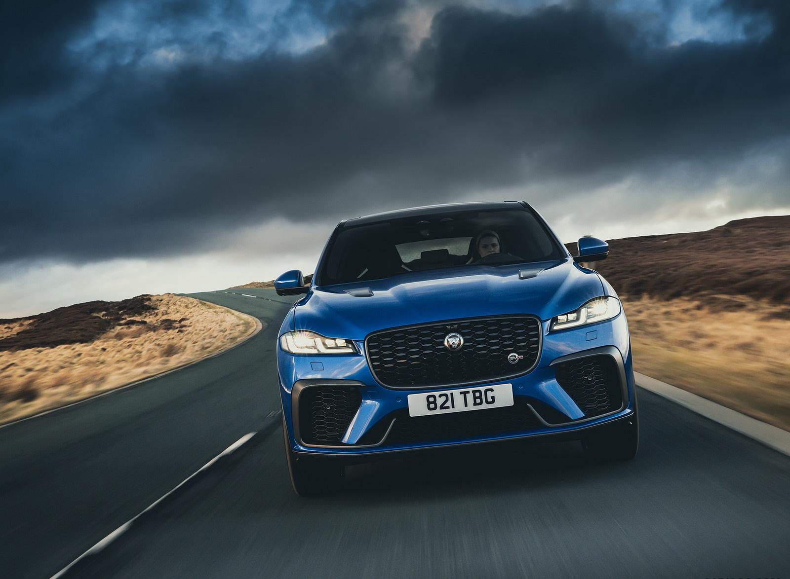 2021 Jaguar F-PACE SVR (Color: Velocity Blue) Front Wallpapers  (5)