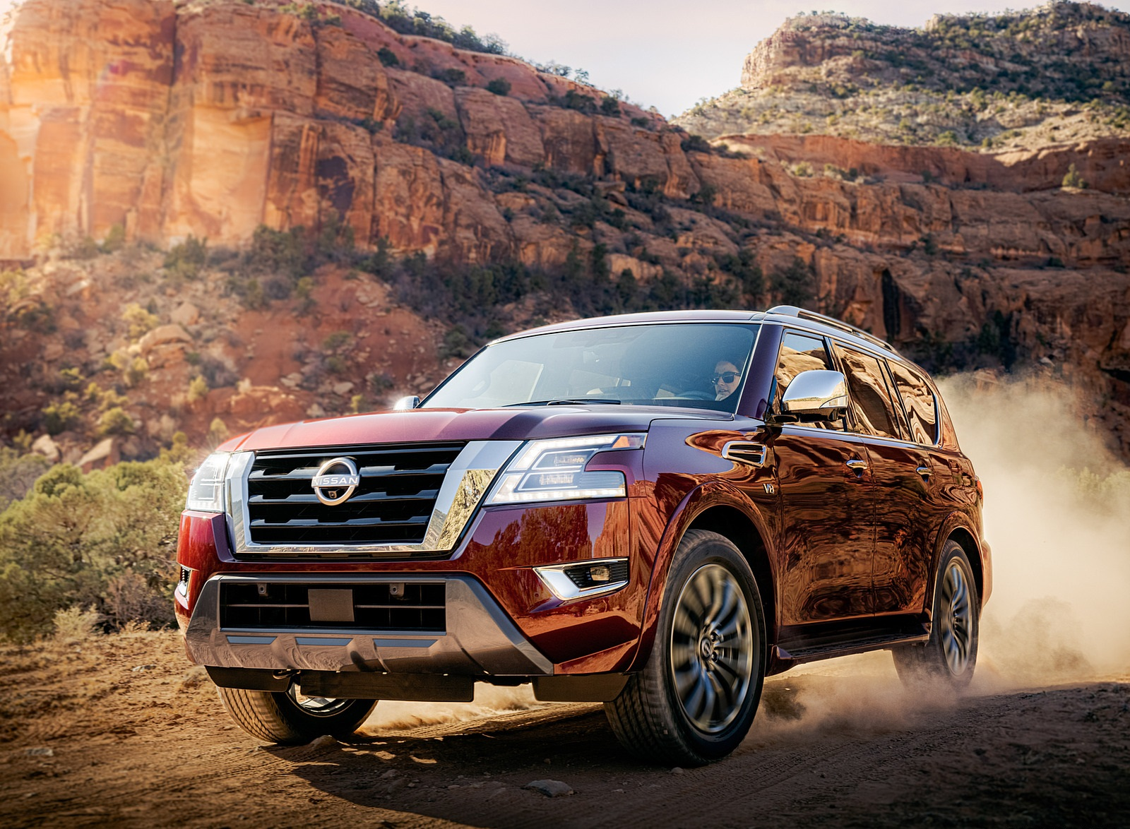 2021 Nissan Armada Front Three-Quarter Wallpapers (2)