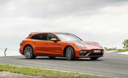 2021 Porsche Panamera Turbo S Sport Turismo (Color: Papaya Metallic) Front Three-Quarter Wallpapers 450x275 (32)