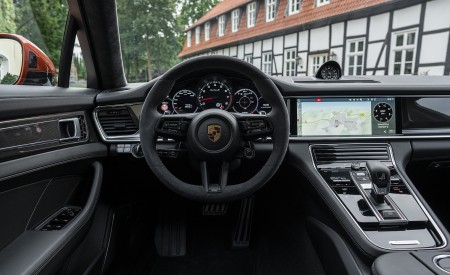 2021 Porsche Panamera Turbo S Sport Turismo (Color: Papaya Metallic) Interior Cockpit Wallpapers 450x275 (61)