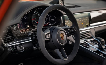 2021 Porsche Panamera Turbo S Sport Turismo (Color: Papaya Metallic) Interior Steering Wheel Wallpapers 450x275 (63)