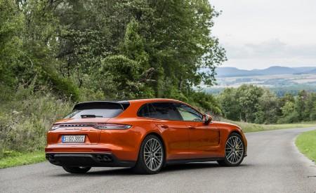 2021 Porsche Panamera Turbo S Sport Turismo (Color: Papaya Metallic) Rear Three-Quarter Wallpapers 450x275 (49)