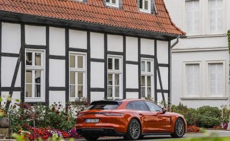 2021 Porsche Panamera Turbo S Sport Turismo (Color: Papaya Metallic) Rear Three-Quarter Wallpapers 450x275 (45)