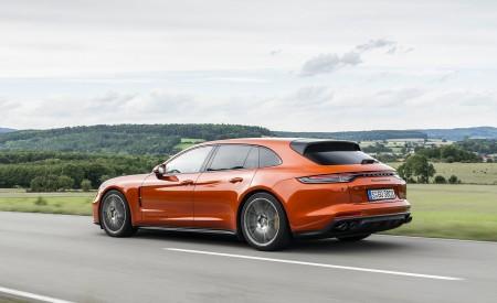 2021 Porsche Panamera Turbo S Sport Turismo (Color: Papaya Metallic) Rear Three-Quarter Wallpapers 450x275 (38)
