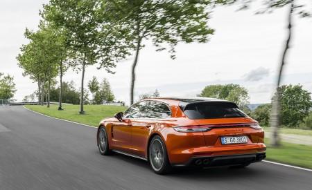 2021 Porsche Panamera Turbo S Sport Turismo (Color: Papaya Metallic) Rear Three-Quarter Wallpapers 450x275 (33)