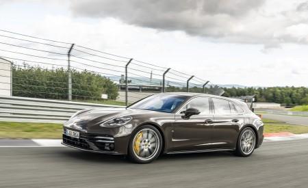 2021 Porsche Panamera Turbo S Sport Turismo (Color: Truffle Brown Metallic) Front Three-Quarter Wallpapers  450x275 (78)