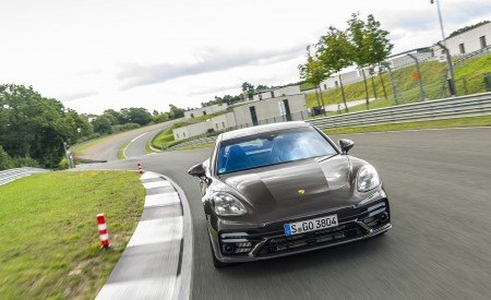 2021 Porsche Panamera Turbo S Sport Turismo (Color: Truffle Brown Metallic) Front Wallpapers 450x275 (70)