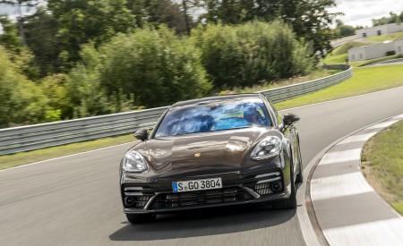 2021 Porsche Panamera Turbo S Sport Turismo (Color: Truffle Brown Metallic) Front Wallpapers 450x275 (67)