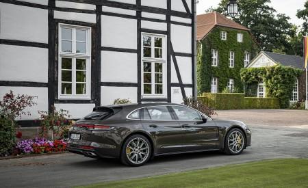 2021 Porsche Panamera Turbo S Sport Turismo (Color: Truffle Brown Metallic) Rear Three-Quarter Wallpapers 450x275 (93)