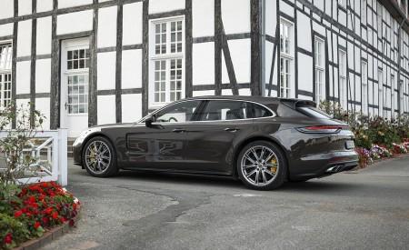 2021 Porsche Panamera Turbo S Sport Turismo (Color: Truffle Brown Metallic) Rear Three-Quarter Wallpapers 450x275 (95)