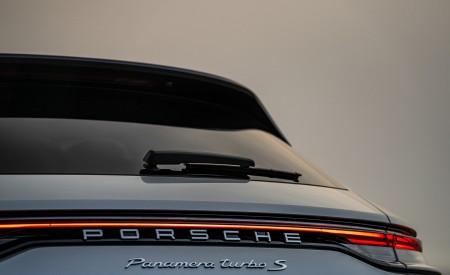 2021 Porsche Panamera Turbo S Sport Turismo (US-Spec; Color: GT Silver Metallic) Detail Wallpapers 450x275 (22)