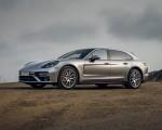 2021 Porsche Panamera Turbo S Sport Turismo (US-Spec; Color: GT Silver Metallic) Front Three-Quarter Wallpapers 150x120 (15)