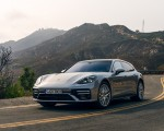 2021 Porsche Panamera Turbo S Sport Turismo (US-Spec; Color: GT Silver Metallic) Front Three-Quarter Wallpapers 150x120 (9)
