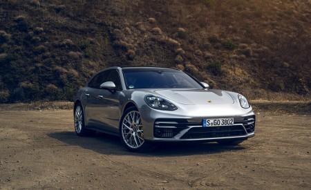 2021 Porsche Panamera Turbo S Sport Turismo (US-Spec; Color: GT Silver Metallic) Front Three-Quarter Wallpapers 450x275 (14)