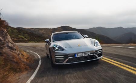 2021 Porsche Panamera Turbo S Sport Turismo (US-Spec; Color: GT Silver Metallic) Front Wallpapers 450x275 (4)