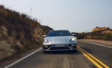 2021 Porsche Panamera Turbo S Sport Turismo (US-Spec; Color: GT Silver Metallic) Front Wallpapers 450x275 (5)