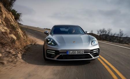 2021 Porsche Panamera Turbo S Sport Turismo (US-Spec; Color: GT Silver Metallic) Front Wallpapers 450x275 (7)