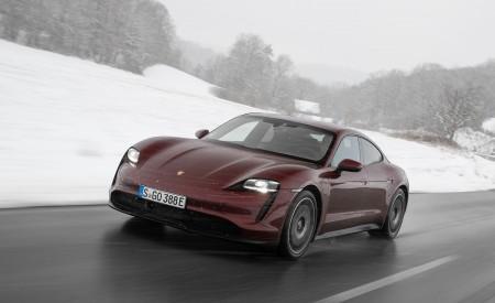 2021 Porsche Taycan (Color: Cherry Metallic) Front Three-Quarter Wallpapers 450x275 (110)