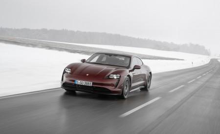 2021 Porsche Taycan (Color: Cherry Metallic) Front Three-Quarter Wallpapers 450x275 (95)