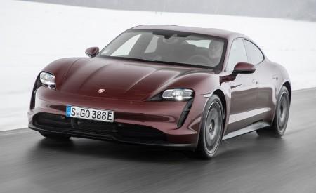 2021 Porsche Taycan (Color: Cherry Metallic) Front Three-Quarter Wallpapers 450x275 (93)