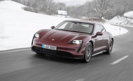 2021 Porsche Taycan (Color: Cherry Metallic) Front Three-Quarter Wallpapers 450x275 (100)