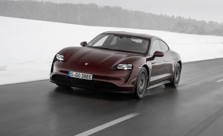 2021 Porsche Taycan (Color: Cherry Metallic) Front Three-Quarter Wallpapers 450x275 (94)