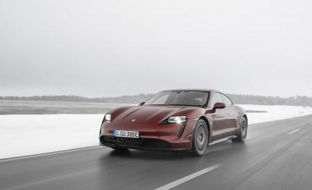 2021 Porsche Taycan (Color: Cherry Metallic) Front Three-Quarter Wallpapers 450x275 (102)