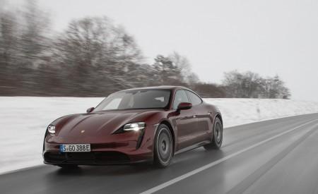 2021 Porsche Taycan (Color: Cherry Metallic) Front Three-Quarter Wallpapers 450x275 (103)