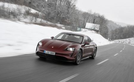 2021 Porsche Taycan (Color: Cherry Metallic) Front Wallpapers 450x275 (104)