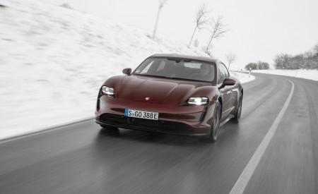 2021 Porsche Taycan (Color: Cherry Metallic) Front Wallpapers 450x275 (97)