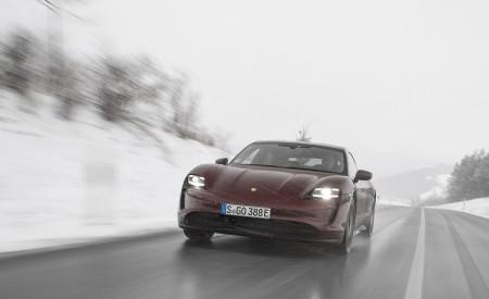 2021 Porsche Taycan (Color: Cherry Metallic) Front Wallpapers 450x275 (113)
