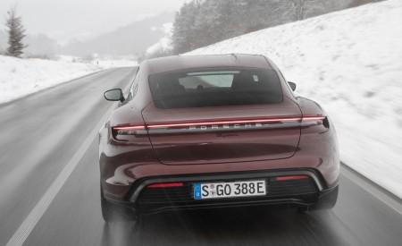 2021 Porsche Taycan (Color: Cherry Metallic) Rear Wallpapers 450x275 (117)