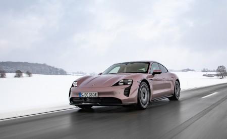 2021 Porsche Taycan (Color: Frozen Berry Metallic) Front Three-Quarter Wallpapers  450x275 (167)