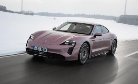 2021 Porsche Taycan (Color: Frozen Berry Metallic) Front Three-Quarter Wallpapers 450x275 (165)