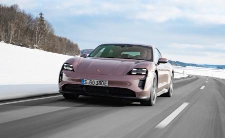 2021 Porsche Taycan (Color: Frozen Berry Metallic) Front Wallpapers 450x275 (141)
