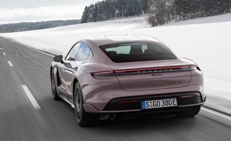 2021 Porsche Taycan (Color: Frozen Berry Metallic) Rear Three-Quarter Wallpapers 450x275 (142)