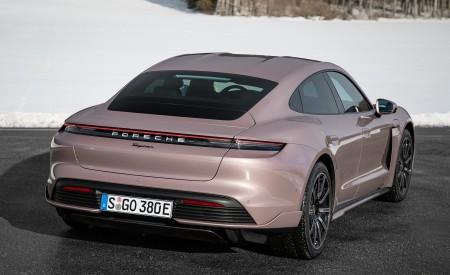 2021 Porsche Taycan (Color: Frozen Berry Metallic) Rear Three-Quarter Wallpapers  450x275 (176)