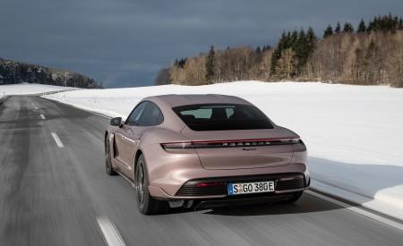 2021 Porsche Taycan (Color: Frozen Berry Metallic) Rear Three-Quarter Wallpapers 450x275 (154)