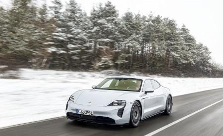 2021 Porsche Taycan (Color: Ice Grey Metallic) Front Three-Quarter Wallpapers 450x275 (55)