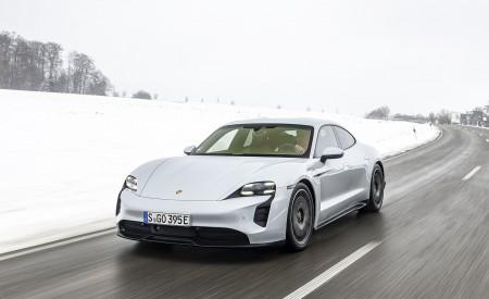 2021 Porsche Taycan (Color: Ice Grey Metallic) Front Wallpapers 450x275 (58)