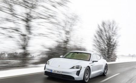 2021 Porsche Taycan (Color: Ice Grey Metallic) Front Wallpapers 450x275 (59)