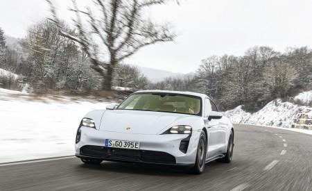 2021 Porsche Taycan (Color: Ice Grey Metallic) Front Wallpapers  450x275 (62)