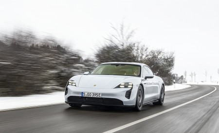 2021 Porsche Taycan (Color: Ice Grey Metallic) Front Wallpapers  450x275 (64)