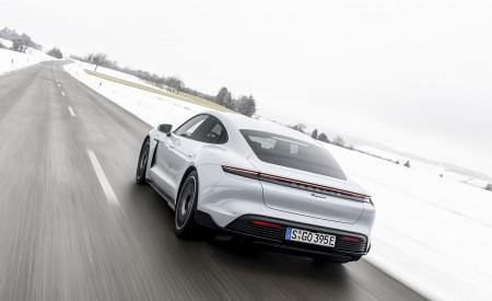 2021 Porsche Taycan (Color: Ice Grey Metallic) Rear Three-Quarter Wallpapers 450x275 (76)