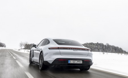 2021 Porsche Taycan (Color: Ice Grey Metallic) Rear Wallpapers 450x275 (66)