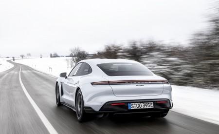 2021 Porsche Taycan (Color: Ice Grey Metallic) Rear Wallpapers 450x275 (74)