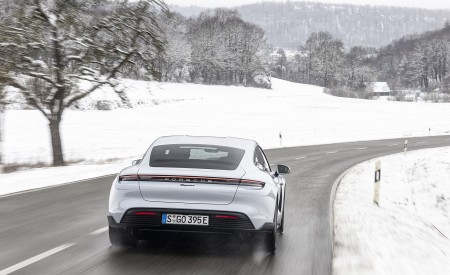 2021 Porsche Taycan (Color: Ice Grey Metallic) Rear Wallpapers 450x275 (67)