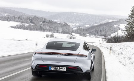 2021 Porsche Taycan (Color: Ice Grey Metallic) Rear Wallpapers 450x275 (73)